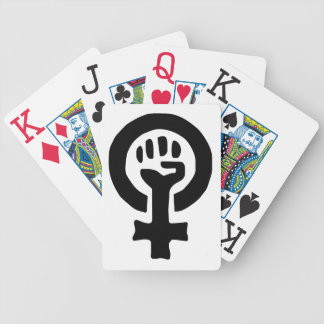 Feminist Symbol Logo Bicycle Playing Cards