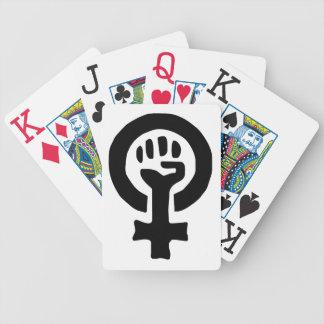 Feminist Symbol Logo Bicycle Playing Cards