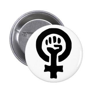 Feminist Symbol Logo Buttons