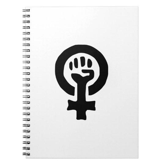 Feminist Symbol Logo Notebook