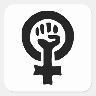 Feminist Symbol Logo Square Stickers