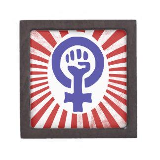 Feminist Symbol Premium Trinket Box
