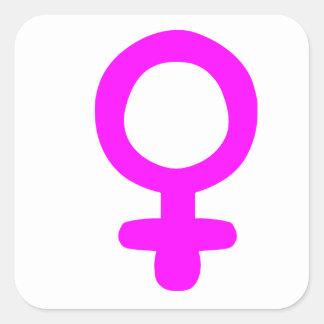 Feminist Symbol Square Sticker