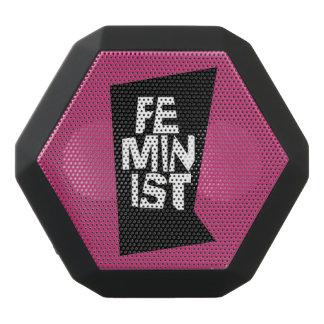 Feminist women female girl me too equal woman black bluetooth speaker
