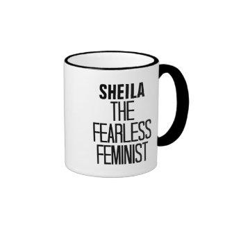 Feminista audaz taza de dos colores
