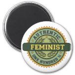 Feminista auténtica imanes para frigoríficos
