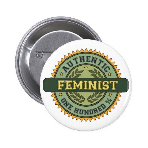 Feminista auténtica pins