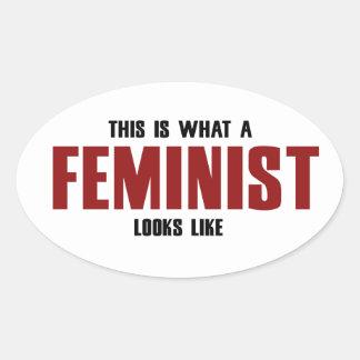 Feminista Calcomanía De Oval Personalizadas