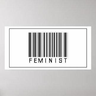 Feminista del código de barras impresiones