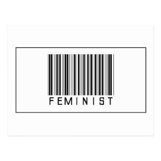 Feminista del código de barras tarjetas postales
