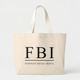 Feminista del FBI el | que es divertido irónico Bolsa Tela Grande