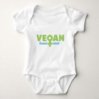 Feminista del vegano body para bebé