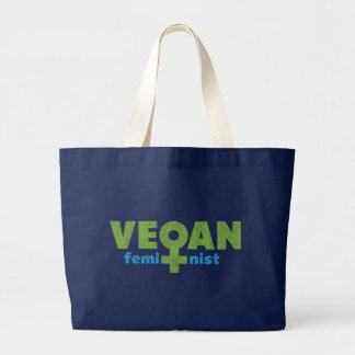 Feminista del vegano bolsa de tela grande