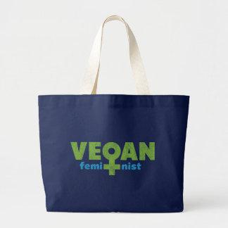 Feminista del vegano bolsa tela grande