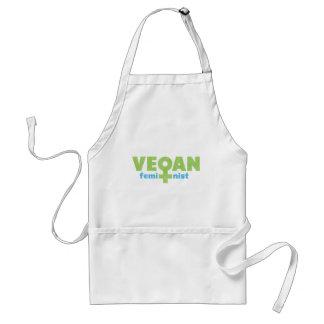 Feminista del vegano delantal