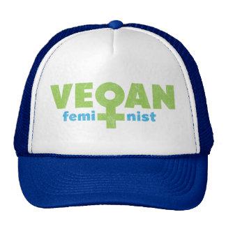 Feminista del vegano gorros