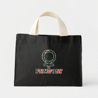 Feminista elegante lamentable bolsas lienzo