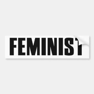 Feminista Etiqueta De Parachoque
