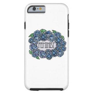 Feminista floral funda para iPhone 6 tough