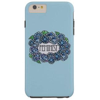 Feminista floral funda para iPhone 6 plus tough
