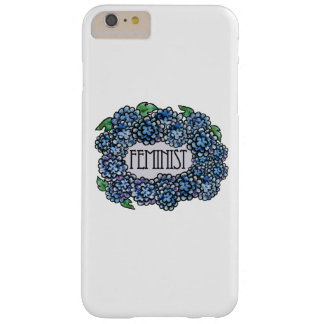 Feminista floral funda para iPhone 6 plus barely there