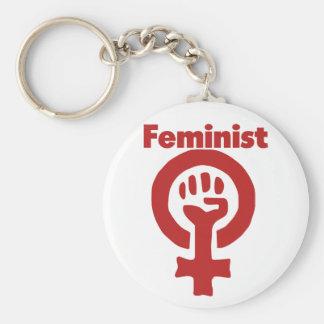 Feminista Llavero Redondo Tipo Pin