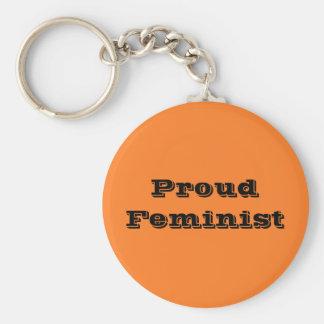 Feminista orgullosa llavero redondo tipo pin
