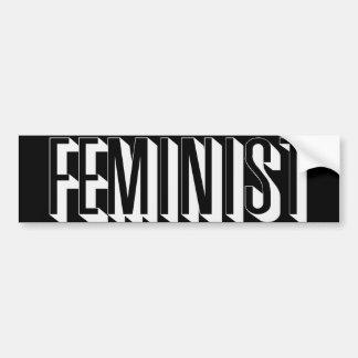 Feminista Pegatina Para Auto