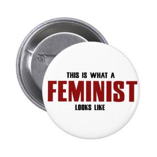 Feminista Pin Redondo De 2 Pulgadas