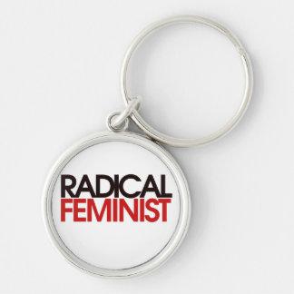 Feminista radical llaveros personalizados