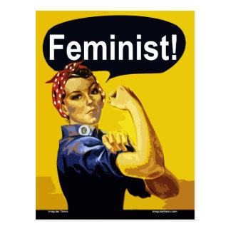 ¡Feminista! Rosie la postal del remachador