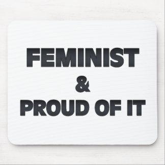 Feminista y orgulloso tapetes de raton