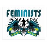 Feministas idas salvajes tarjetas postales