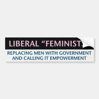 Feministas liberales pegatina para auto