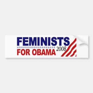 Feministas para Obama 2008 Pegatina Para Auto