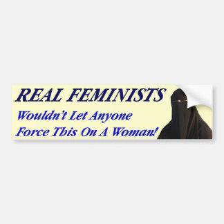 Feministas reales pegatina para auto