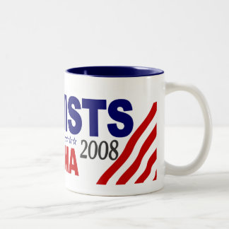Feminists for Obama 2008 Two-Tone Coffee Mug
