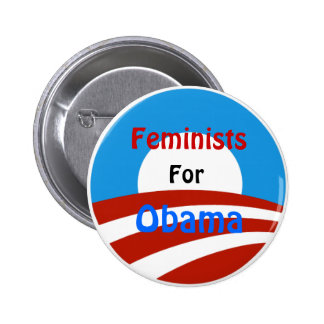 Feminists for Obama Pinback Button
