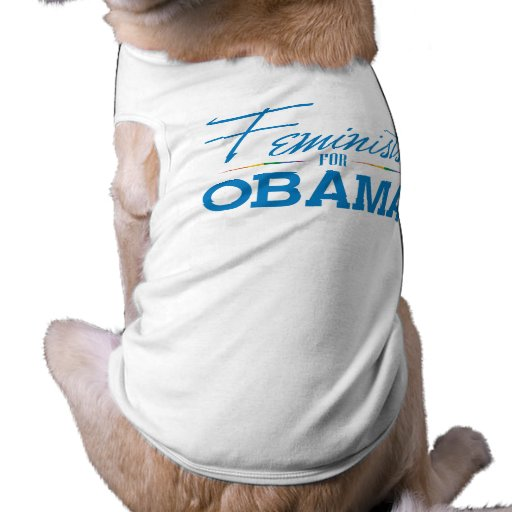 FEMINISTS FOR OBAMA -.png Pet Clothing
