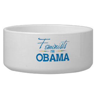 FEMINISTS FOR OBAMA -.png Pet Water Bowls
