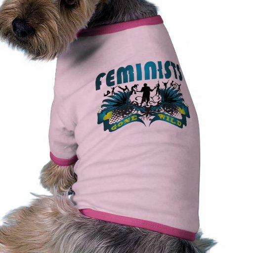 Feminists Gone Wild Dog T-shirt