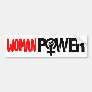 Feminists Resist - WOMAN POWER - Feminist Bumper S Bumper Sticker