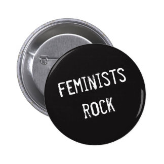Feminists Rock Button