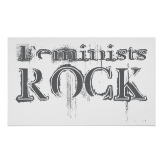 Feminists Rock Poster