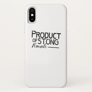 feminists Strong Female woman Girls Gift iPhone X Case
