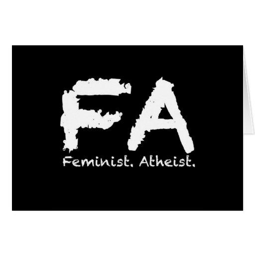 Feminst. Ateo Tarjeta De Felicitación