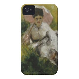Femme à l'ombrelle et enfant - Auguste Renoir iPhone 4 Case