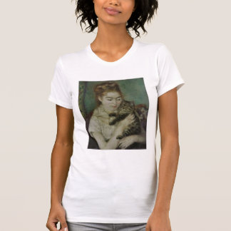 Femme au Chat - Pierre Auguste Renoir Tshirt