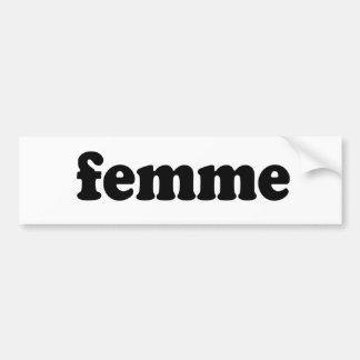 FEMME PEGATINA DE PARACHOQUE