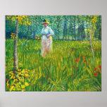 Femme dans un Jardin (van Gogh) Posters